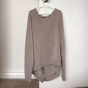 NORDSTROM TAN CASHMERE SWEATER